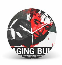 "Raging Bull 12"" Quartz Wall Clock Record Clock Classic Movie Christmas Gift CL83"