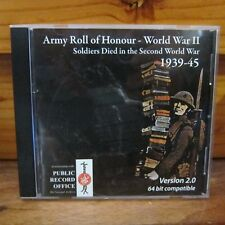 Army Roll Of Honour - World War II CD-ROM The Naval & Military Press England
