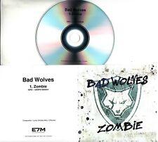 BAD WOLVES Zombie 2018 UK 1-trk promo test CD Cranberries cover