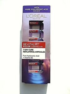 L'OREAL PARIS REVITALIFT FILLER + HYALURONIC ACID 7 DAY CURE REPLUMPING AMPOULES