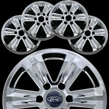 "4 CHROME 2015-2019 Ford F150 XLT 17"" Alloy Wheel Skins Full Rim Covers Hub Caps"