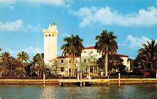 MIAMI BEACH FLORIDA HOME OF CARL G FISHER~PIONEER LAND DEVELOPER POSTCARD 1956