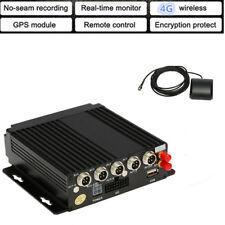 4CH AHD Car Mobile DVR SD Card 4G Wireless GPS Realtime Video Recorder G-sensor