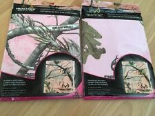 """Lot Of 2 Realtree Stretch Fabric Book Covers Fits 9.5"""" x 8"""" CAMO"""
