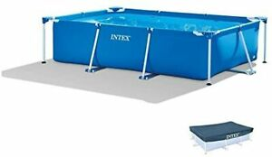 F/S INTEX Rectangular Frame Pool 300 x 200 x 75 cm House garden With cover