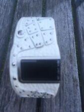 Unisex Mens Diesel Watch. Leather White Studded, Digital Dz7068