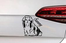 Hunde Aufkleber Shih tzu Sticker mit Wunsch Namen Dog Decal JDM Premium Folie