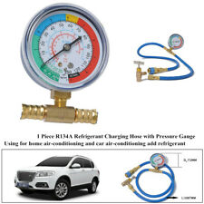 1xCar Air Conditioning R134A Refrigerant Charging Hose Low Pressure Gauge Device