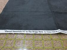 NEW Flannel Essentials VI by The Buggy Barn Henry Glass & Co #7725F Black 1/2 yd
