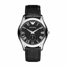 Emporio Armani Watch AR1708 RRP £229 Black Silver UK Warranty Sale Watches