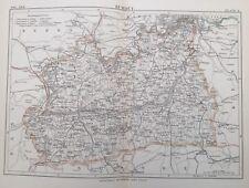 1885 Antique map - Surrey - Encyclopaedia Britannica