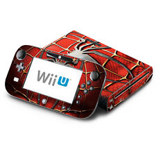 Skin Decal Cover for Nintendo Wii U Console & GamePad - Spiderman