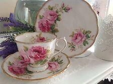 One Royal Albert American Beauty tea trio, tea cup, saucer & plate