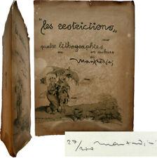 Rare Les restrictions quatre lithographies en couleurs 1917 Manfredini n°27/200