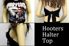XXL Hooters UNIFORM USA Flag  Sturgis Halter Top  Shirt Club Biker Wear