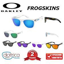 OAKLEY FROGSKINS 9013 UOMO DONNA SPECCHIO POLARIZZATE OCCHIALI DA SOLE SPORT BLU