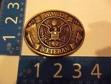 Vintage Belt Buckle Solid Brass W.W.II Veteran