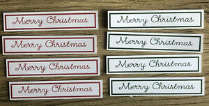 12x Red Green Merry Christmas Sentiments card making
