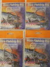 4xpack of 4x Surecatch Fishing Wire 91cm Rig 50lb s/steel $9.5free shipping