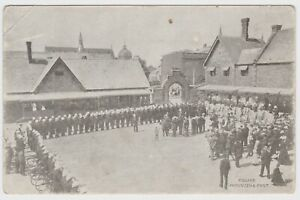 South Australian Mounted & Foot Police at Adelaide Barracks OLD POSTCARD c1905