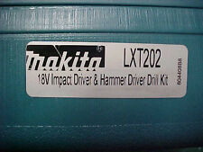 NEW Makita LXT 202 18V Impact  Driver / Hammer Drill Kit  Case (CASE ONLY)