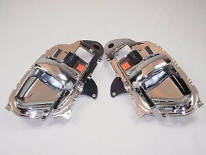 PAIR Door Handles Chrome 1995-1999 SILVERADO SIERRA Chevy GMC C/K 1500 2500 3500