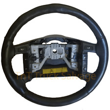 1994 - 1996 Ford F-150 Bronco Black Leather Steering Wheel Cruise Control OEM B