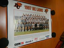 """1997 BC LIONS team poster excellent condition with no holes 24"""" x 18"""" CFL photo"""