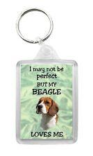 Beagle Dog Keyring Keyfob 'I May Not Be Perfect But...' Fun Novelty Gift Idea