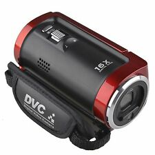 16MP 720P HD 2.7'' TFT LCD Digital Video Camcorder Camera DV DVR 16x ZOOM Red US