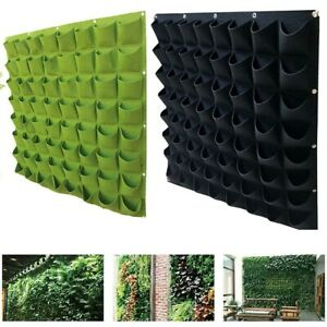 Green Vertical Grow Bag Garden Planter Creative Wall-mounted Planting Flower Pot