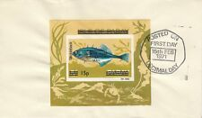 GB : 1971 PABAY 1969 Fish miniature sheet opt on cover - Decimal Day