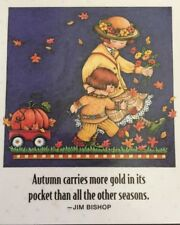Mary Engelbreit Handmade Magnets-Autumn Carries More Gold In Its Pocket