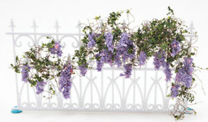 Dollhouse Miniature Outdoor Accent Wisteria Vine and Flowers 10 x 6 CAWSM