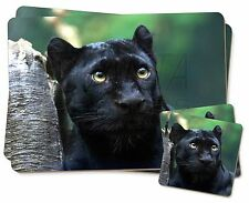 Black Panther Twin 2x Placemats+2x Coasters Set in Gift Box, AT-1PC