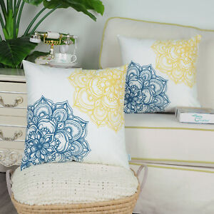 Pack of 2 Throw Pillow Case Covers for Couch Bed Sofa Vintage Dahlia Floral Home