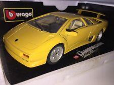 1:18 LAMBORGHINI DIABLO 1990 ITALIAN Super Performance Route Voiture jaune 1/18