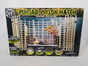 WWE Punjabi Prison Match Double Cage Playset with Ring by Jakks Pacific