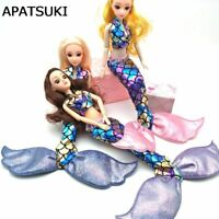 High Quality Colorful Mermaid Cosplay Doll Outfits for 1:6 Barbie Dolls Toys