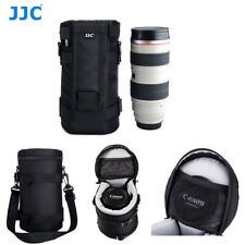 JJC Dlp-6 125 X 235 Mm Water Resistant Deluxe Lens Pouch With Strap - Black