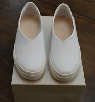 COS women's white slip on leather comfort sneakers price tag of $125 new in box