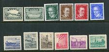 ESTONIA 1933-41 MNH Lot FALLS BUILDINGS 12 Stamps