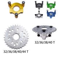 """32/36/38/40/44T Wheel Sprocket 1.5"""" Adapter Motorized Bike 60 80cc 415 Chain"""