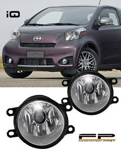 2012-2015 Scion iQ Clear Lens Replacement Fog Light Housing Assembly Pair LH/RH