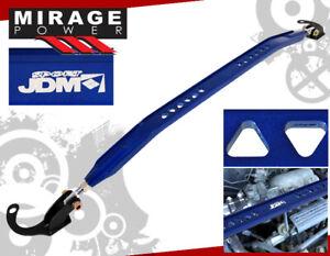 For 90-94 Eclipse Laser Talon JDM Sport Front Upper Strut Bar Blue CNC Aluminum