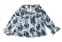 Red Camel Blouse Women's XL Floral Paisley Print Long Sleeve