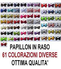 PAPILLON FARFALLA SETA RASO CRAVATTINO Uomo Donna Papion Rosso Blu Nero rosa