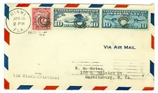 1930 PANAM FLIGHT COVER AAMC FAM 5-44 MIAMI TO CANAL ZONE LINDBERGH #70, C7,C10