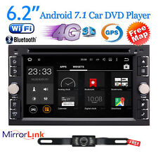 """Android 7.1 4G WIFI 6.2"""" Double 2 DIN Car Radio Stereo DVD Player GPS Navi+Cam"""