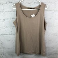 Serena Williams Tank Top Womens Large Beige Camisole Sleeveless